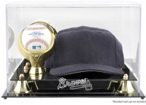 Atlanta Braves Baseball Cap And Ball Display Case