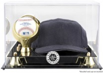 Seattle Mariners Baseball Cap And Ball Display Case