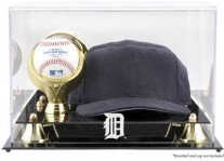 Detroit Tigers Baseball Cap And Ball Display Case