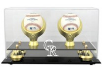 Colorado Rockies Double Baseball Ball Holder
