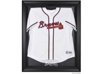 Atlanta Braves Jersey Display Case Cabinet Style