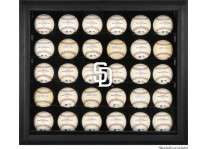 San Diego Padres 30 Baseball Ball Display Case