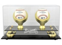 Atlanta Braves Double Baseball Ball Holder