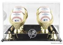 Baseball Ball Display Case For 4 Balls With Rings & ...