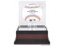 Atlanta Braves Mahogany Baseball Ball Display Case