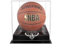 Atlanta Hawks Basketball Ball Display Case Black Acrylic ...