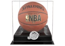 Utah Jazz Basketball Ball Case Black Acrylic Base