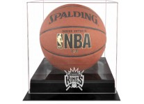 Sacramento Kings Basketball Ball Case Black Acrylic Base