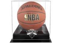 New York Knicks Basketball Ball Case Black Acrylic Base