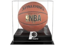 Indiana Pacers Basketball Ball Display Case Black Acrylic ...