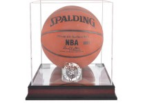 Boston Celtics Mahogany Basketball Ball Display Case