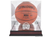 Sacramento Kings Mahogany Basketball Ball Display Case