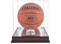 Denver Nuggets Mahogany Basketball Ball Display Case