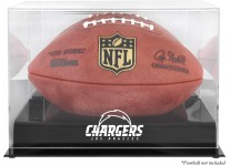 Los Angeles Chargers Black Base Football Ball Case