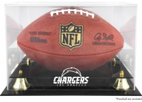 Los Angeles Chargers Classic Football Ball Display Case