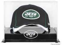 Acrylic Cap Display Case With New York Jets Logo