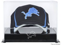 Acrylic Cap Display Case With Detroit Lions Logo