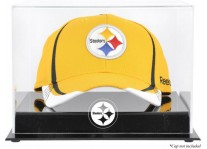 Acrylic Cap Display Case With Pittsburgh Steelers Logo