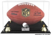 Cleveland Browns Classic Football Ball Display Case