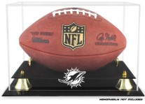 Miami Dolphins Classic Football Ball Display Case