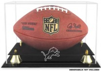 Detroit Lions Classic Football Ball Display Case