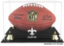 New Orleans Saints Classic Football Ball Display Case