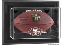 San Francisco 49ers Wall Mount Football Ball Display Case