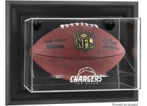 San Diego Chargers Wall Mount Football Ball Display Case