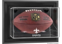 New Orleans Saints Wall Mount Football Ball Display Case