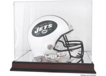 Mahogany New York Jets Helmet Display Case