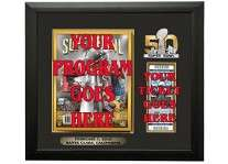 Super Bowl 50 L Ticket And Program Holder Frame