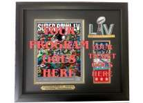 Super Bowl 55 LV Ticket And Program Holder Frame