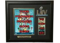 Super Bowl 54 LIV Ticket And Program Holder Frame