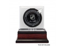 Arizona Coyotes Puck Display Case - Mahogany Base