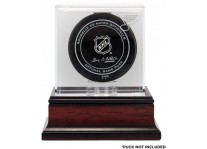 St Louis Blues Sharks Puck Display Case - Mahogany Base