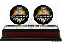2017 Pittsburgh Penguins Stanley Cup Champions Two Puck Case