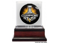 Pittsburgh Penguins 2017 Stanley Cup Champions Puck Display
