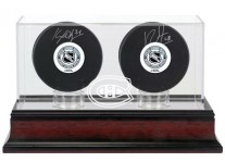 Montreal Canadiens Double Hockey Puck Display Case