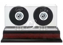 New Jersey Devils Double Hockey Puck Display Case