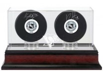 Pittsburgh Penguins Double Hockey Puck Display Case