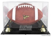Illinois Fighting Illini Football Display Case With Risers