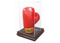 Caseworks Boxing Glove Display Case - Mahogany Boardroom