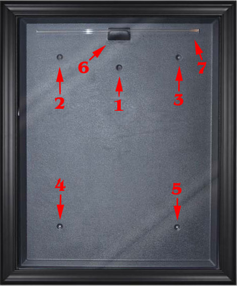 how to hang your jersey display case