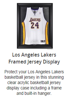 Los Angeles Lakers Jersey Display Case