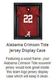 Alabama Crimson Tide Jersey Display Case