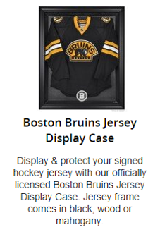 Boston Bruins Jersey Display Case