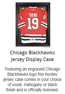 Chicago Blackhawks Jersey Display Case