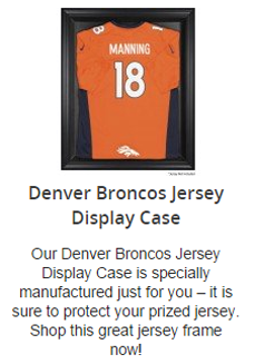Denver Broncos Jersey Display Case