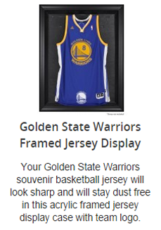 Golden State Warriors Basketball Jersey Display Case