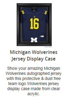 Michigan Wolverines Jersey Display Case
